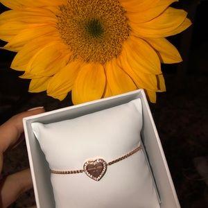 Michael Kors rose gold heart bracelet